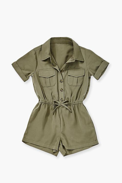 OLIVE Buttoned Collared Romper, image 1