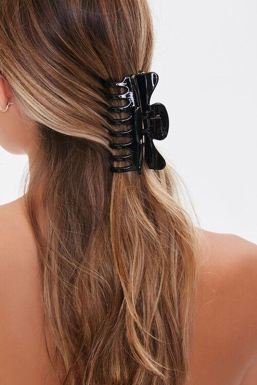 BLACK Clear Hair Claw Clip, image 1