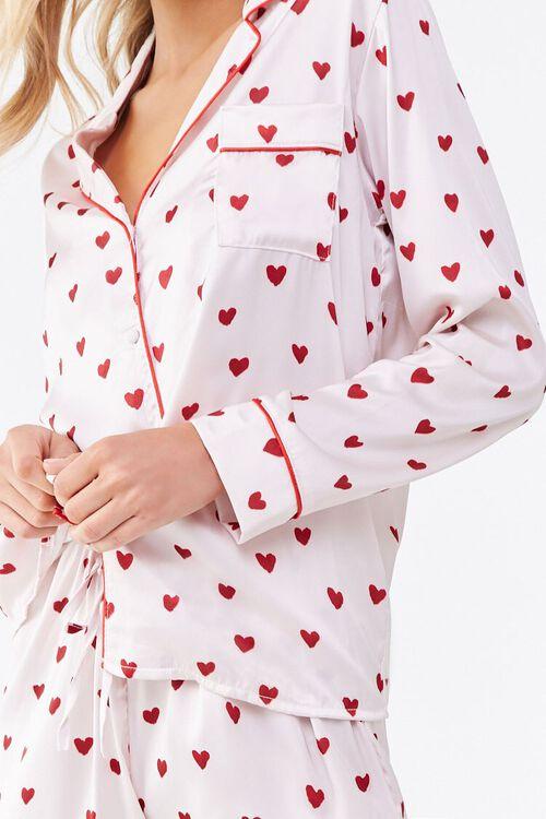 Heart Print Pajama Set, image 4