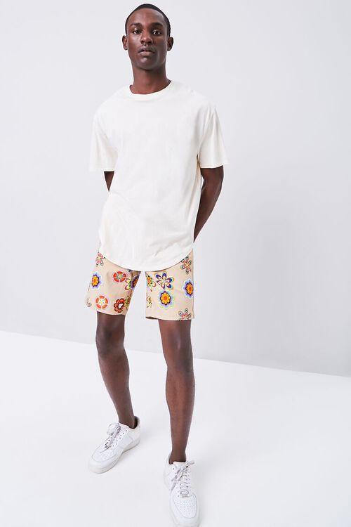 Floral Print Drawstring Shorts, image 5