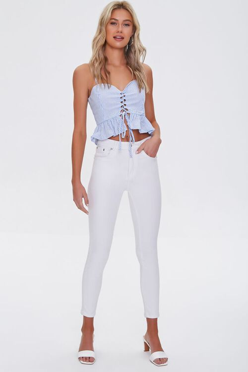 Striped Lace-Up Cami, image 4