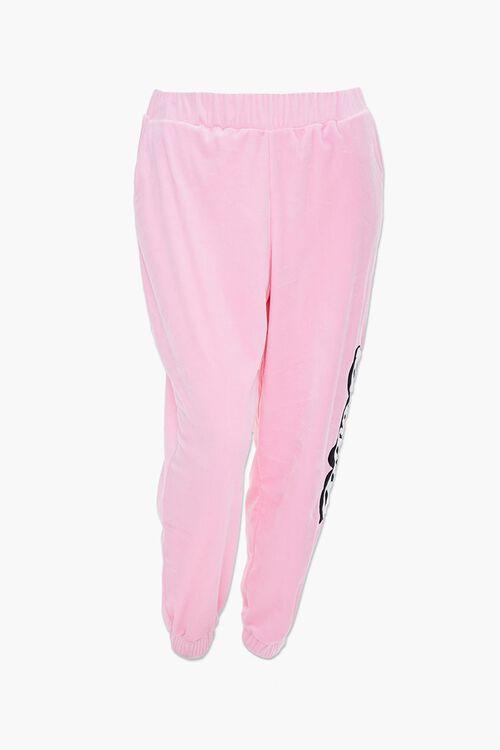 Plus Size Velour Barbie™ Joggers, image 2