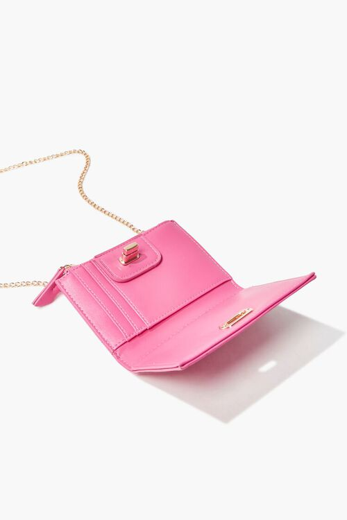PINK Faux Leather Twist-Lock Coin Purse, image 2