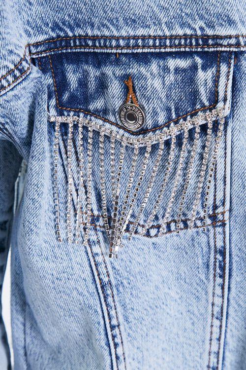 Rhinestone Fringe Denim Jacket, image 5