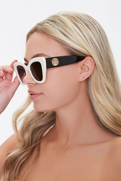 Opaque Cat-Eye Sunglasses, image 2