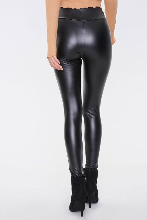 Faux Leather High-Rise Leggings, image 4