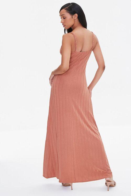 Ribbed Bow-Front Cami Maxi Dress, image 3