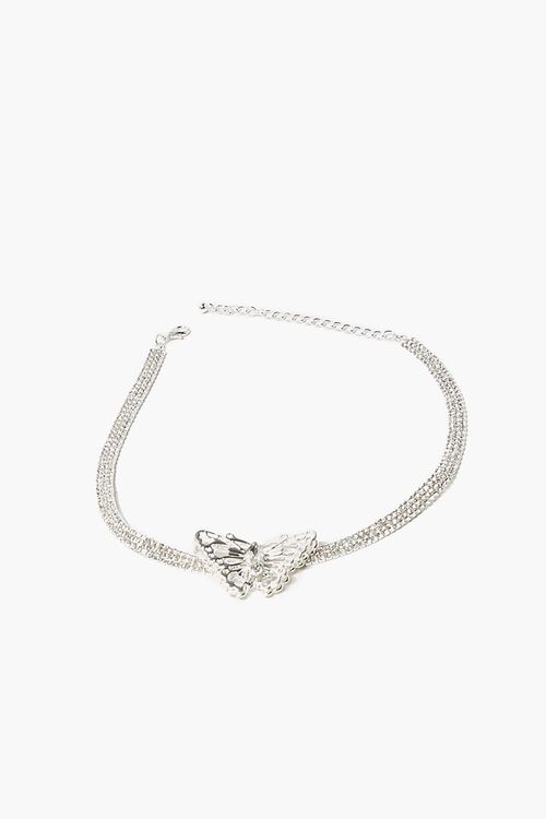 Butterfly Pendant Choker Necklace, image 2