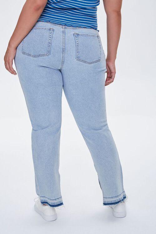 LIGHT DENIM Plus Size Release-Hem Jeans, image 4