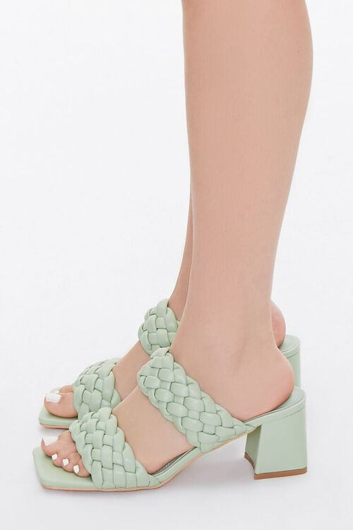 Braided Square-Toe Block Heels, image 2