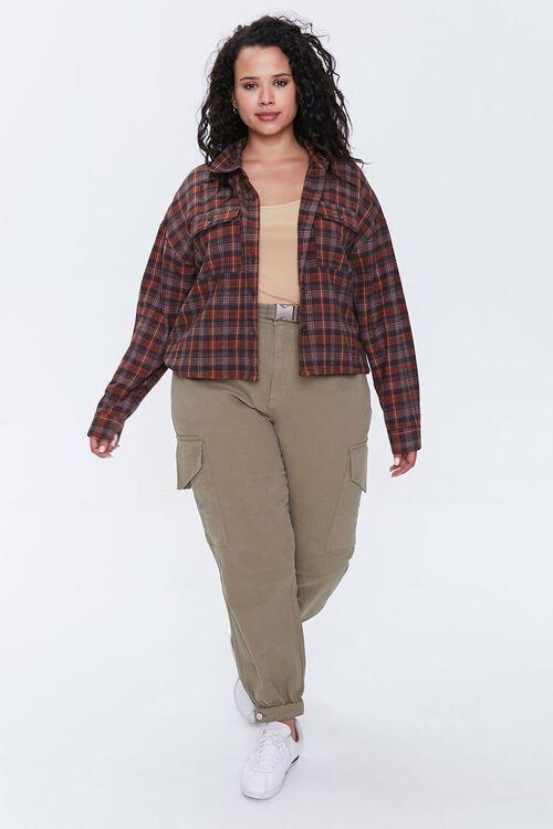 Plus Size Plaid Button-Up Shirt, image 4