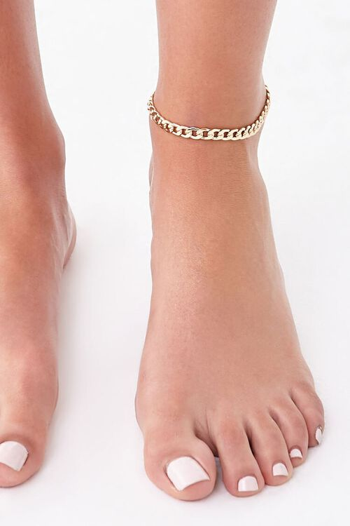Chunky Curb Chain Anklet, image 2