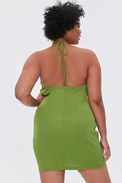 Plus Size Halter Mini Dress, image 3