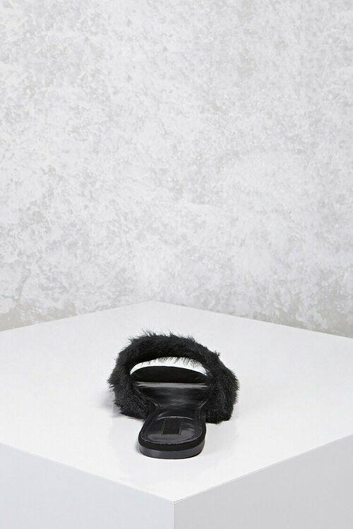 Faux Fur Slide Sandals, image 3