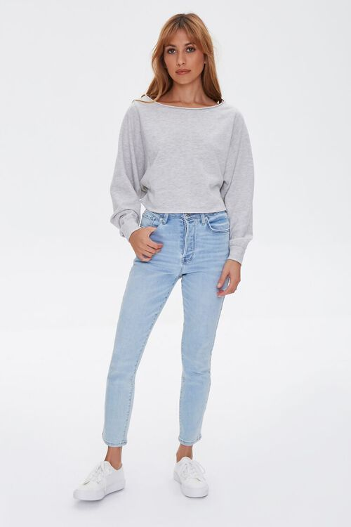 HEATHER GREY French Terry Pullover, image 5