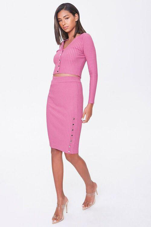 Ribbed Top & Pencil Skirt Set, image 4