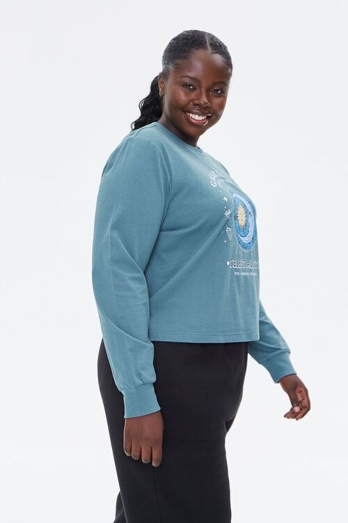 Plus Size Celestial Graphic Pullover, image 3