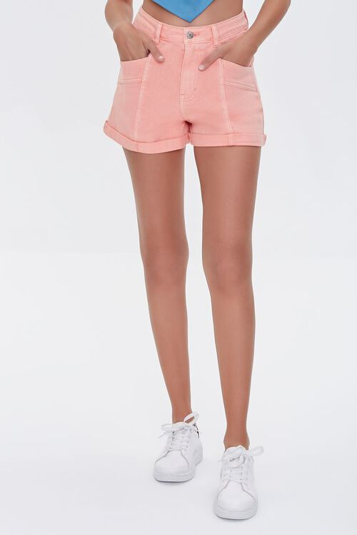High-Rise Denim Shorts, image 2