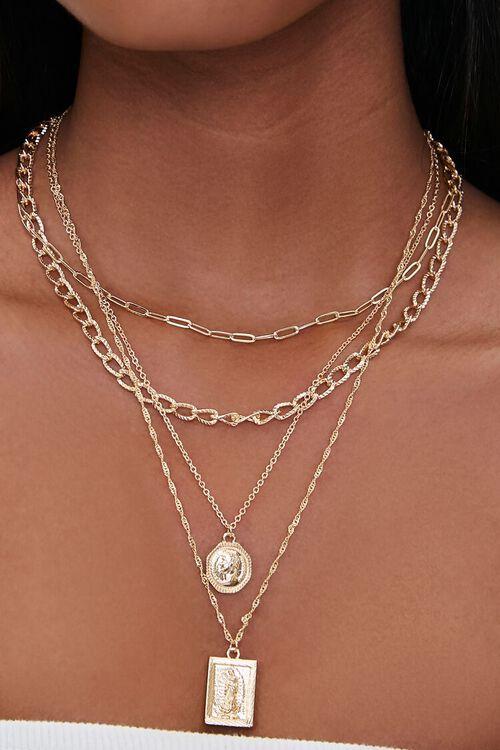 Coin Pendant Necklace Set, image 1