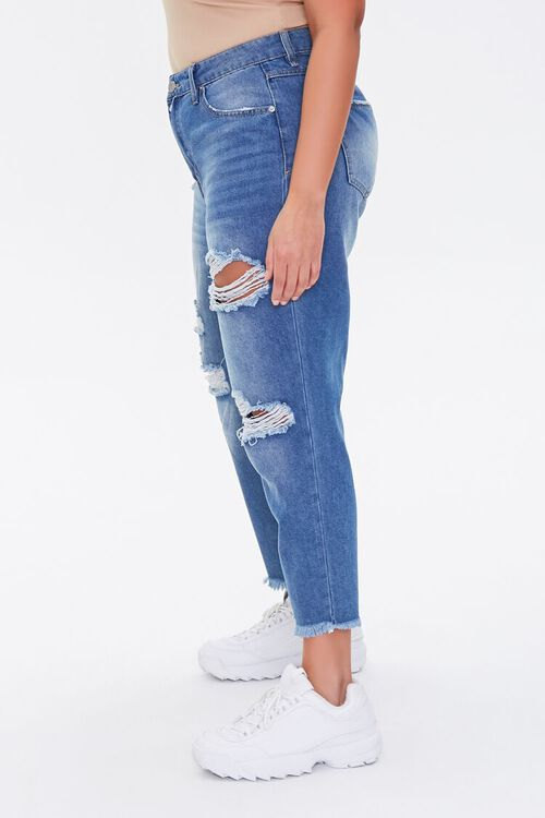Plus Size Distressed Cropped Jeans, image 3