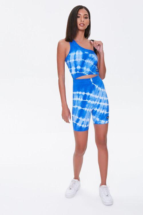 BLUE/WHITE Kendall & Kylie Biker Shorts, image 4