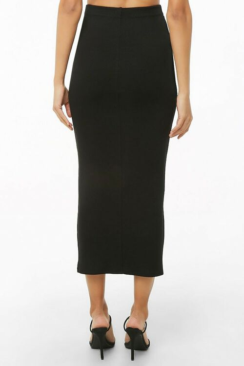 Ribbed High-Rise Midi Skirt, image 3