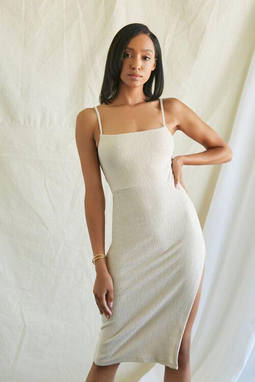 TAUPE Lace-Back Cami Dress, image 2