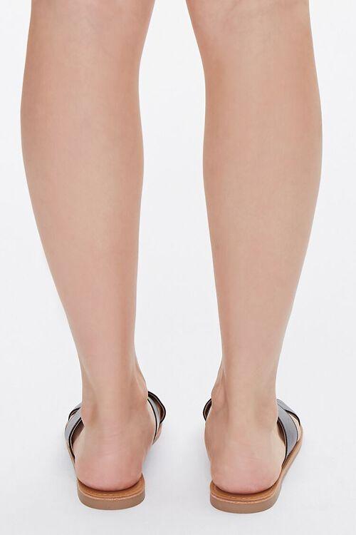 Faux Leather Crisscross Sandals, image 3