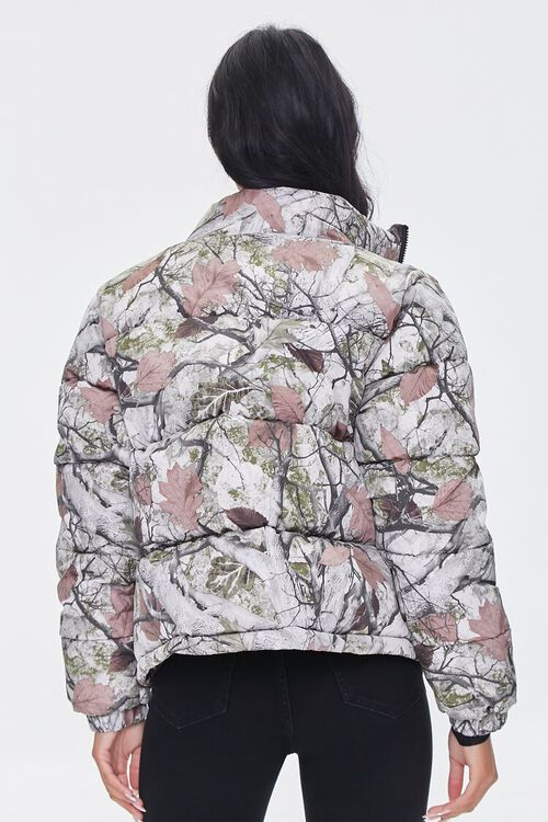 OLIVE/MULTI Forest Camo Print Puffer Jacket, image 3