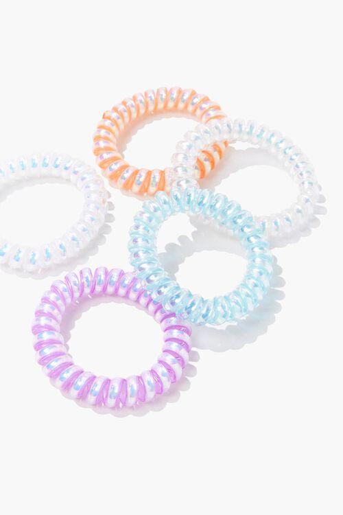 Jelly Spiral Hair Tie Set, image 1