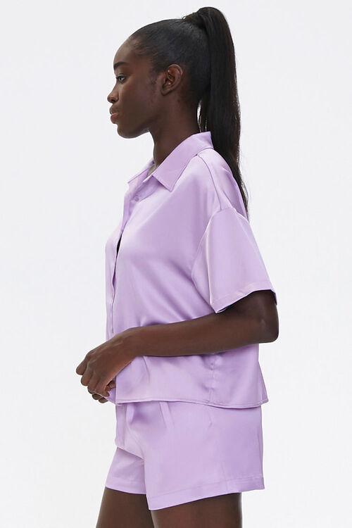 Satin Shirt & Shorts Set, image 2