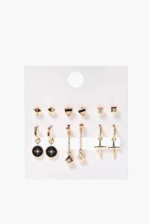 Dagger Charm Drop & Stud Earring Set, image 1