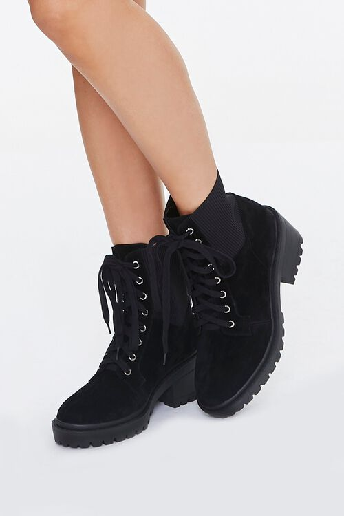 Lace-Up Sock Ankle Boots, image 1