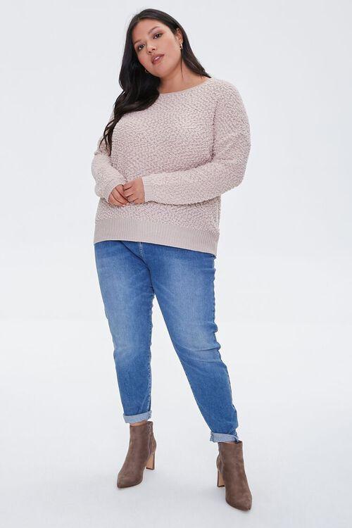 Plus Size Popcorn Knit Sweater, image 4