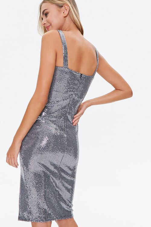 Metallic Pin Dot Knee-Length Dress, image 4