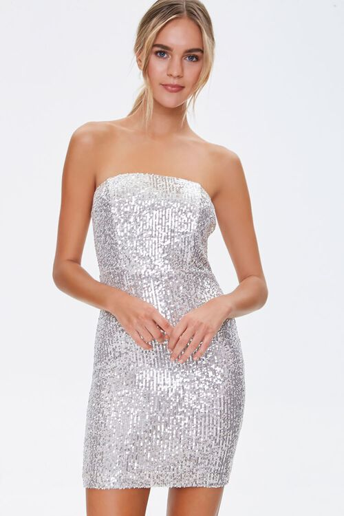Metallic Strapless Dress, image 2