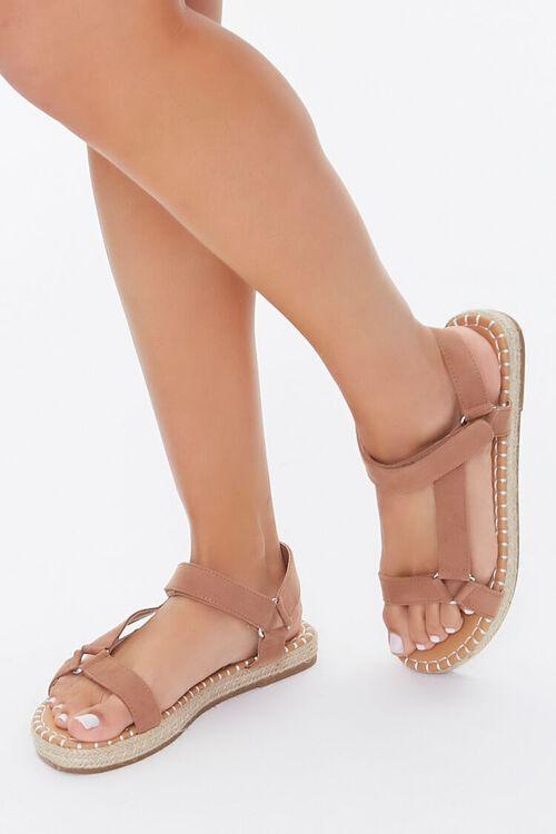 Caged Espadrille Flatform Sandals, image 1