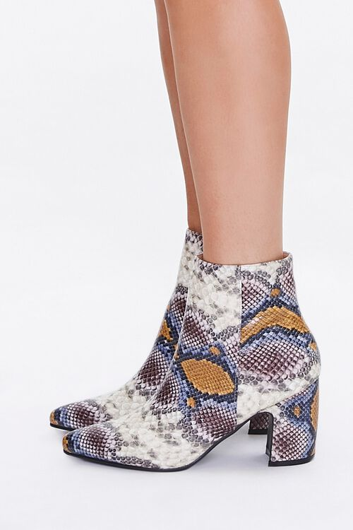 Faux Snakeskin Booties, image 2