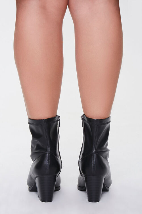 Faux Leather Pointed Booties (Wide), image 4