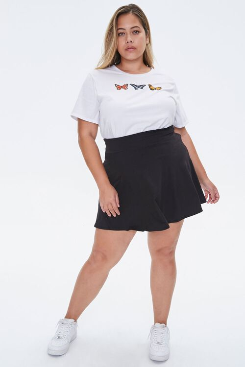 Plus Size Butterfly Graphic Tee, image 4