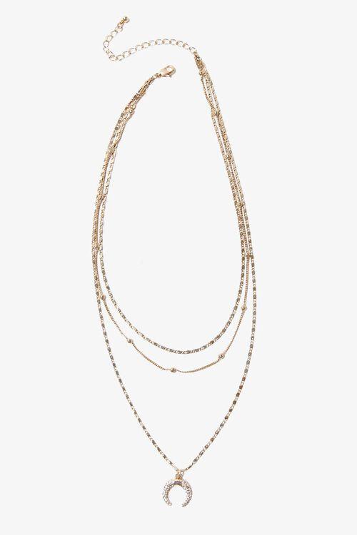 Double Horn Pendant Necklace, image 3