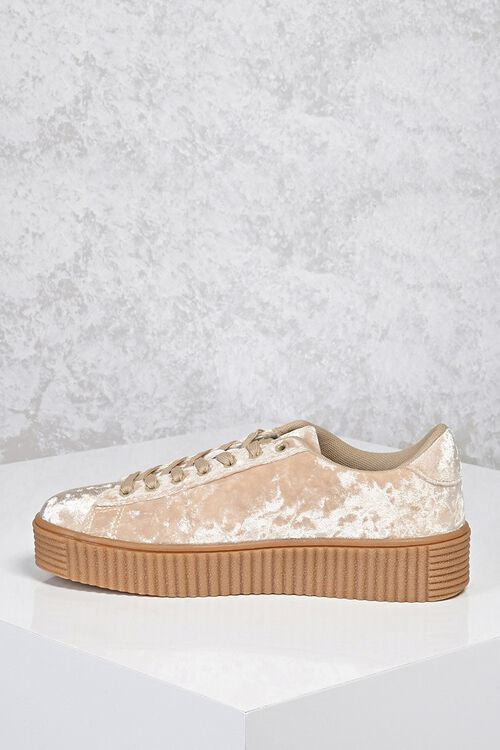Crushed Velvet Low-Top Sneakers, image 3
