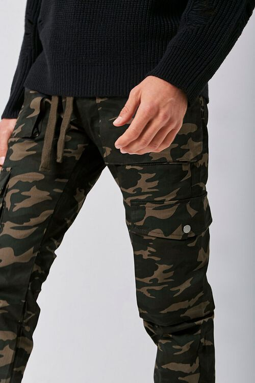 Camo Snap-Button Cargo Pants, image 5