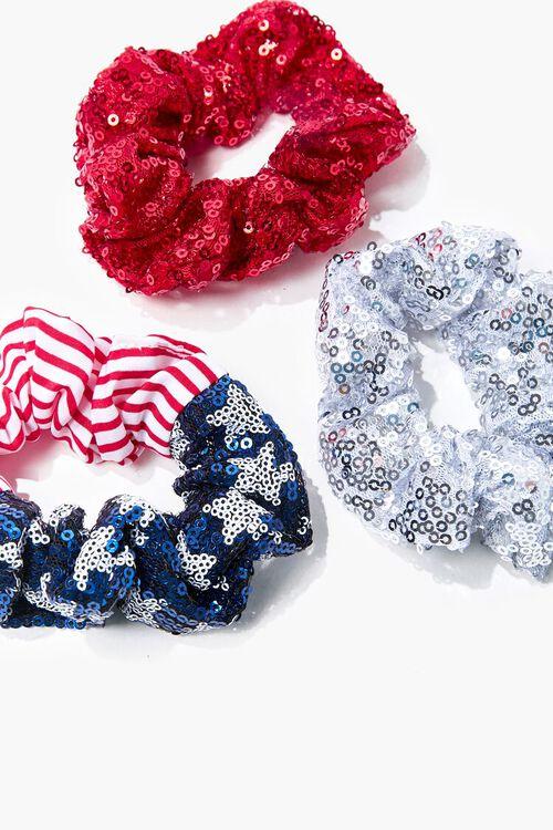Sequin Stars & Stripes Scrunchie Set, image 2