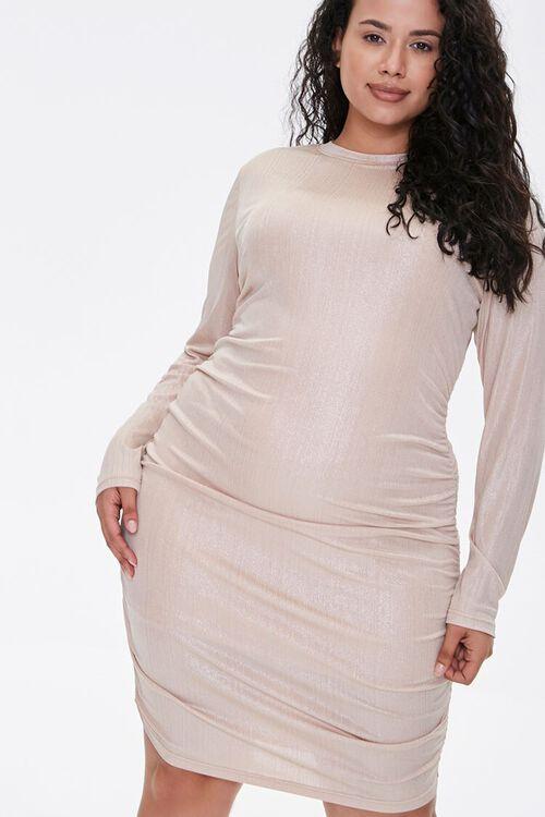 Plus Size Metallic Bodycon Dress, image 1