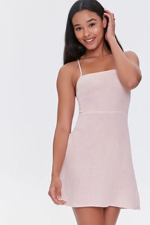 BLUSH Crisscross-Back Mini Dress, image 1