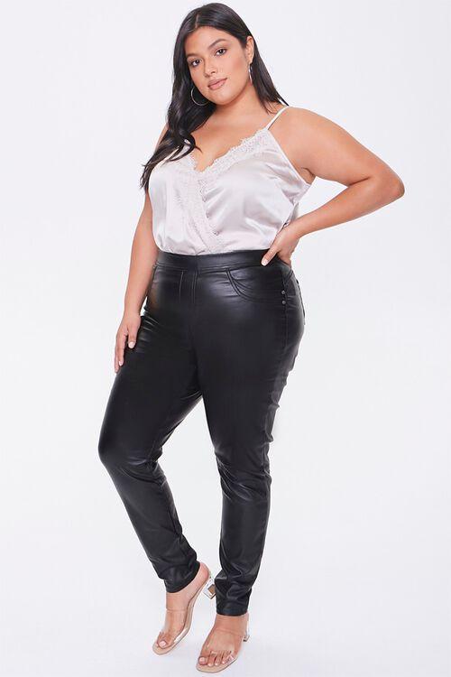 Plus Size Faux Leather Pants, image 5
