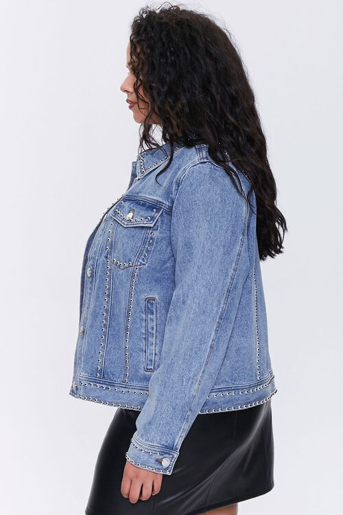 Plus Size Studded Denim Jacket, image 2
