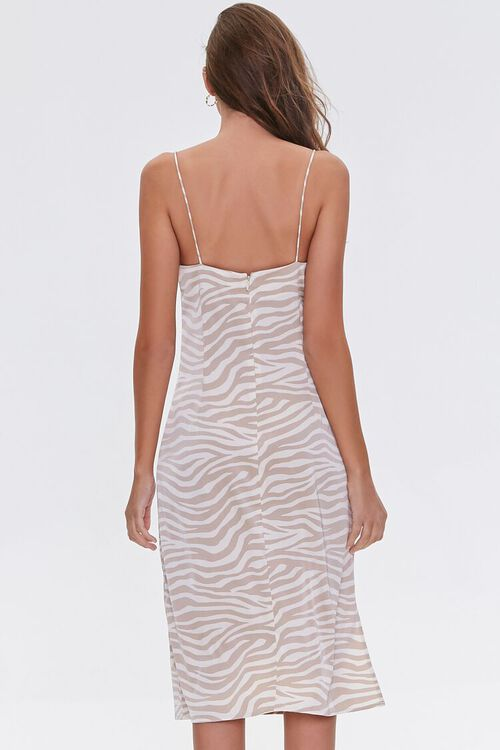 Zebra Print Cowl Dress, image 3