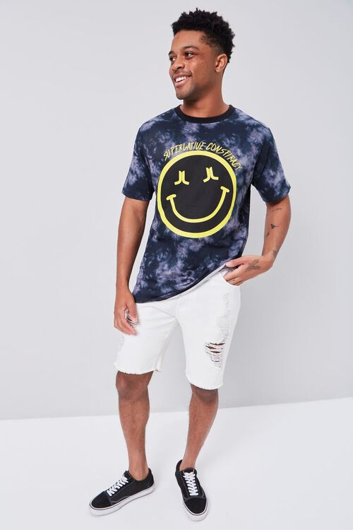 BLACK/YELLOW Smiling Face Graphic Tee, image 5